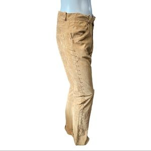 Dorothee Imhoff Suede Pants with Lacing Size Small